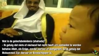 Een schattig moslimkindje! (Vragen en Koranrecitatie)