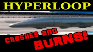 Hyperloop crashes and BURNS!!!