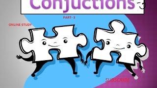 English Grammar- Conjuction part 3 for SSC chsl/mts/cgl/ibps/sbi/ippb etc exam.