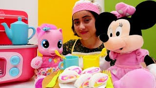 Minnie Mouse & MLP Pinkie Pie çay partisi