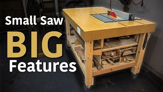 My Table Saw Workstation - A Jobsite Saw Loaded With Extras