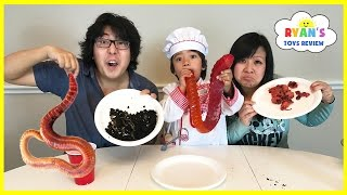 Gummy Food vs Real Food challenge Parent Edition! Giant Gummy Worm Gross Real Food Candy Challenge