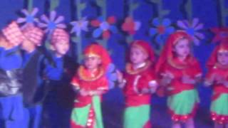 Young kids dance at Nepal Academy Hall at Euro Kids