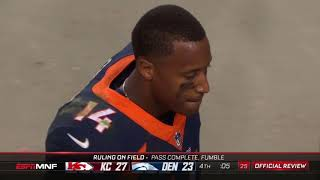 Courtland Sutton Failed Lateral Attempt | Chiefs vs. Broncos | NFL
