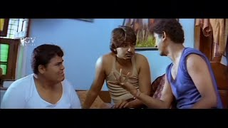 Vishwa slap Prajwal Devraj hitting in dream | Komal | Nannavanu | Kannada Comedy Scenes