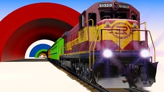 VIDS for KIDS in 3d (HD) - Trains for Children and Tunnels, Fun Learning - AApV