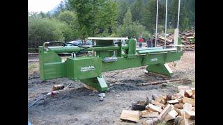 Pezzolato 50 Ton wood splitter to process big diameter logs
