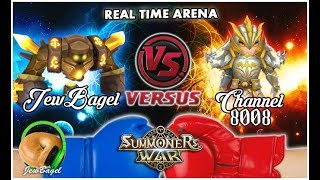 SUMMONERS WAR : JewBagel -VS- Channel 8008 (Real-Time Arena)