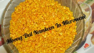 Moong Dal Namkeen In Microwave/ Roasted Moong Dal
