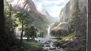 Painting | Sunlit Mountain Pass | Paint with Kevin Hill