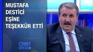 Mustafa Destici eşine teşekkür etti
