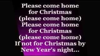 Jon Bon Jovi - Please Come Home For Christmas (Lyrics)
