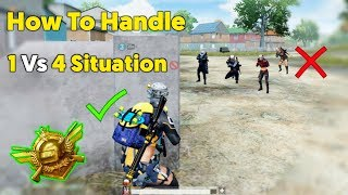 How To Handle 1Vs4 Situation | PUBG Mobile Asia Conqueror Tips!