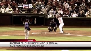 El panameño Carlos Ruiz es el jugador de la semana en las Grandes Ligas