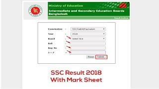 SSC Result 2018 Bangladesh All Education Board Results, SSC Exam Result 2018, IT School