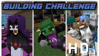 Teen Titans: New Room Build Challenge! (Minecraft Roleplay) | Nightwing Plays Minecraft