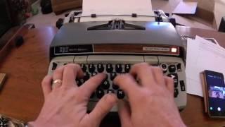 Smith-Corona Electra 210 Typewriter Demo