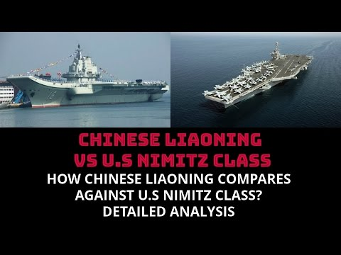 watch HOW CHINESE LIAONING COMPARES  AGAINST U.S NIMITZ CLASS?