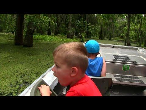 Louisiana Swamp Tour, Hunting for Alligators!