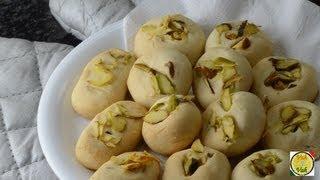 Eggless Nan Khatai Cookies  - By Vahchef @ vahrehvah.com