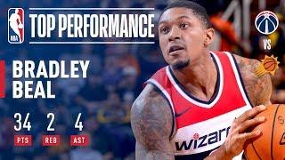 Bradley Beal's 34 Point ELECTRIC Performance vs The Phoenix Suns | December 7, 2017