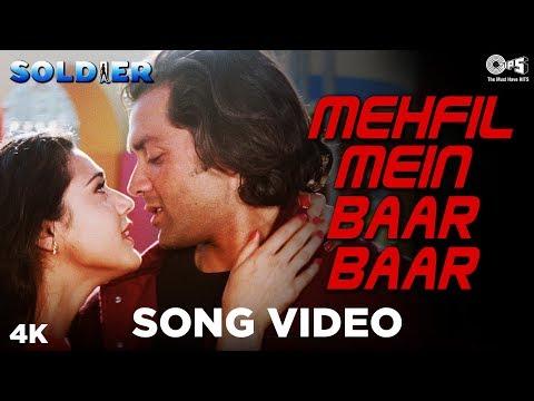 Xxx Mp4 Mehfil Mein Baar Baar Song Video Soldier Bobby Deol Amp Preity Zinta Kumar Sanu Amp Alka Yagnik 3gp Sex