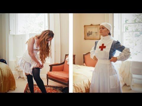 Xxx Mp4 Getting Dressed In WW1 VAD Nurse 3gp Sex