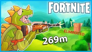 LONGEST HUNTING RIFLE SNIPE EVER in Fortnite: Battle Royale! (Fortnite Funny Moments & Fails)