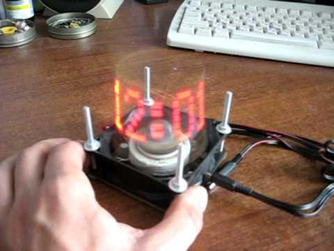 Светодиодные часы из жесткого диска
