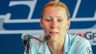 Press Conference | Pippa Mann Discusses Being Bumped from 102nd Indianapolis 500