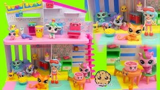 Littlest Pet Shop Slumber Party Sleep Over LPS Set with Happy Places Shoppies Doll