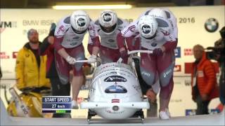 Bobsleigh World Championship: Oskars Melbardis wins first four-man gold for Latvia