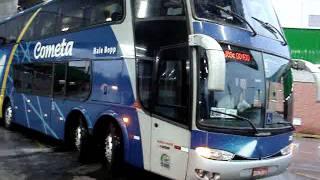 Ônibus Viação Cometa Double Decker Manobrando