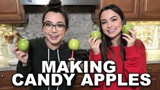 Making Candy Apples - Merrell Twins Live