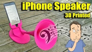 3D Printing iPhone Amplified Speaker - How does it work?