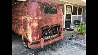 FIRST START IN OVER 40 YEARS - RESURRECTION RESTORATION!!! 1962 VW Type 2 Van/Bus, VW Kombi