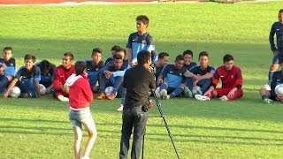 EVAN DIMAS cs Main Games Tendang Mistar Gawang with One stop Football (Crossbar Challenge Indonesia)