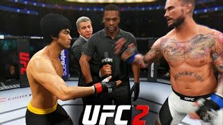 EA Sports UFC 2 - Bruce Lee vs CM Punk   EPIC FIGHT!