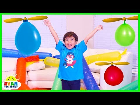Xxx Mp4 Helicopter Balloon Race With Ryan ToysReview 3gp Sex