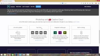 Photoshop Hindi tutorial :Where to download Photoshop CC -Hindi Photoshop tutorial video 1 of 12