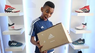 ADIDAS SENT ME A PACKAGE WITH NEW FOOTBALL BOOTS / CLEATS!!!