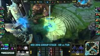 SK Telecom T1 vs Supermassive l 2016 MSI Grup Aşaması 1.Gün l SKT vs SUP