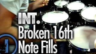 Broken 16th Note Drum Fills - Intermediate Drum Lessons