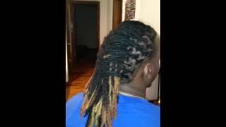 Dread loc fishtail style for men