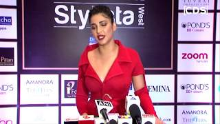 Shruti Hassan Hot In Red Dress At Femina Stylista West Awards 2017
