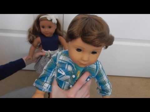 American Girl BOY Logan Everett Review! First Ever American Boy Doll!