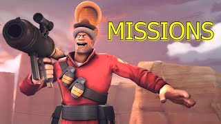 TF2: MIDAIR AIRSHOTTING! - Missions/Challenges 5 ►Team Fortress 2◄