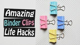 7 Amazing DIY Binder Clips Life Hacks