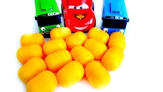 Car Toy Lightning Mcqueen Tayo The Little Bus Open Toys Surprise Nursery Rhymes