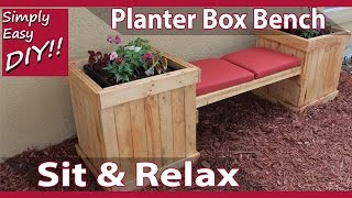DIY Planter Box Bench